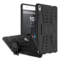 Hard Soft Case Sony Xperia Z3 Casing Cover HP Armor Stand Softcase 3D