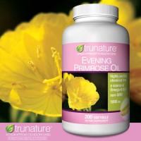 Trunature Evening Primrose Oil 1000 mg., 200 Softgels.