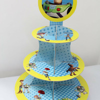 Cupcake stand toy story / Cupcake 3 tier toy story