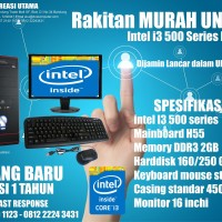 KOMPUTER UNBK MURAH INTEL i3 500 SERIES + LED 16 INCH