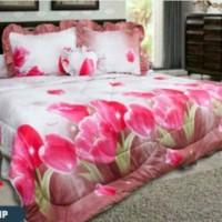 Best Price Bedcover Set California My Love 3D 180X200 Red Tulip Mura
