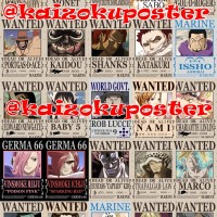 Poster One Piece Bounty / Design Sendiri - SATUAN - Ukuran A4