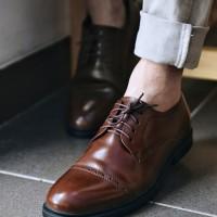 Sepatu Pria / Sepatu Pantofel / Sepatu Kulit Jackwell Allen Brown 1603