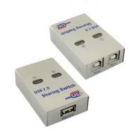 USB 2.0 2-Port Sharing Auto-Switch Printer Scanner Splitter