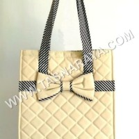 Tas Naraya Cream Square Canvas Shoulder Bag NCN 140C Thailand Berkua
