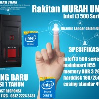 Komputer Murah UNBK Intel I3 500 series