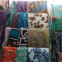 Ready stock kain batik printing desain corak khas Jogja Solo