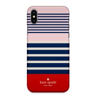 Indocustomcase Kate Spade Stripe Pattern KS01 Case Cover For iPhone X