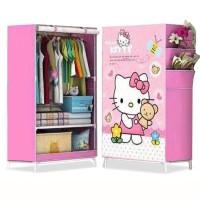 Rak lemari baju, pakaian, dari kain untuk bayi / anak, lipat, cantik