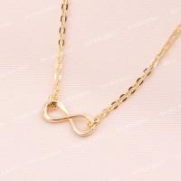 Bauble Bible Mini Infinity Necklace Perhiasan Kalung Lapis Emas 18k