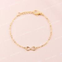 Bauble Bible Mini Infinity Bracelet Perhiasan Gelang Lapis Emas 18k