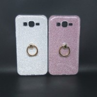 Samsung Galaxy A5 2015 A500 J7 CORE Casing Glitter Case Ring KickStand