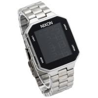 jam tangan nixon new rerun digital led tali rantai silver putih