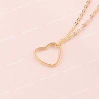 Bauble Bible Large Heart Necklace Perhiasan Kalung Hati Lapis Emas 18k