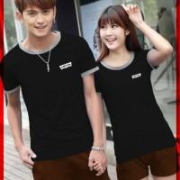 Couple Remaja [Cp T-Shirt Levis Hitam CL] baju couple cotton combet