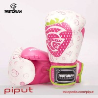 Pretorian Strawberry Gloves Boxing Sarung Tinju Glove Pink Size 10 Oz