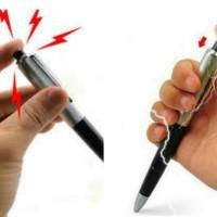 Pulpen Setrum Pena Listrik Electric Shocking Pen Gag Prank Toy Hadiah