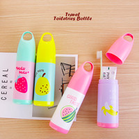 Travel Toiletris Bottle Motif BUAH (Botol utk tempat sikat gigi, odol)