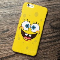SPONGEBOB FACE logo case casing iphone zenfone samsung mi a1 oppo F5