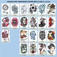 Catalog Tato Tatto Temporary Temporer Sticker Stiker Seri LC 21x15cm