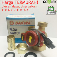 Water Flow Switch / Brass Switch Control SANWA (1 x 1/2 atau 1 x 3/4)
