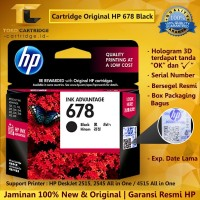 Cartridge HP 678 Black ORIGINAL / Catridge HP 678 1515 2515 2645 4515