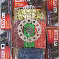 Gear Set SSS YZF - R15 & Rantai SSS 428 HSB Colour Series