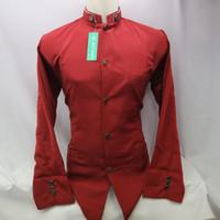 Baju Koko Semi Jasko Jas Koko Polos Merah Lengan Panjang Baru Murah