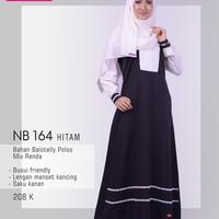 nibras gamis nb 164 hitam