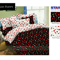 Kain sprei STAR meteran motif Red Poppy
