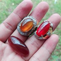 batu akik kalsedon merah dan kuning