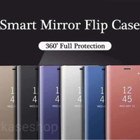 clear view standing samsung s9 PLUS flip mirror case casing cover oem