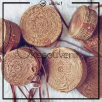 Jual Tas Rotan Bulat tanpa motif 15 cm   rattan bag original lombok bali Murah
