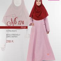 nibras gamis nb 174 pink