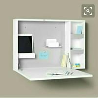 Rak belajar floating shelves meja gantung lemari rahasia papan belajar