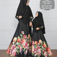 gamis couple baju ibu anak bunda kids mom syari maxi maxy dress xl xxl
