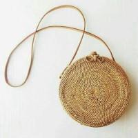 Jual Tas Rotan Bulat Original 18 cm   rattan bag ata bohemian beg lombok Murah
