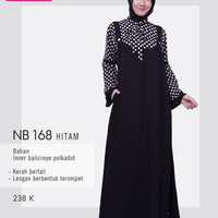 nibras gamis 168 hitam (overall)
