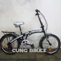 Sepeda Lipat Exotic 2625V ukuran 20 untuk anak dan dewasa