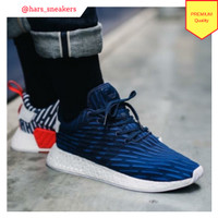 349889657 Sepatu Adidas NMD R2 Navy Blue Premium Quality