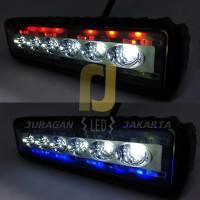 Lampu Tembak Sorot Motor Mobil LED Bar Cree 6 Titik Mata Blitz Strobo
