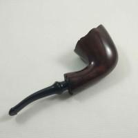 Pipa Cangklong Lorenzo Cadry Dark Brown Freehand Briar Tobacco Pipe