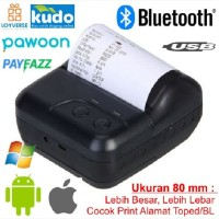 Printer Thermal 80 mm Bluetooth Portable Printer Kasir POS 80mm CX80B