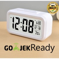 Jam Meja Pintar / Jam Weker Digital Desktop Smart Clock - JP9901 - Putih