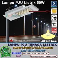 Lampu PJU 50W Super Bright D LED Jalan Raya Tol Taman Pos Perumahan