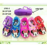 Sepatu Sandal Anak Mickey Mouse / Model Lampu