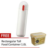 Lock&Lock Hot & Cool Capsule Tumbler 300ml White Gratis Food Container