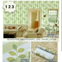 Flower Green Stripe 45cm x 10mtr • Wallpaper Sticker