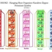 Rak Sepatu GANTUNG Karakter - Hanging Shoes Organizer Murah Surabaya