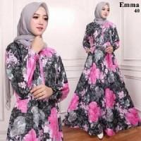 Hijab Trendy Maxi Dress Gamis Katun Emma NEW Abaya Busana Berkualitas